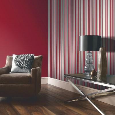 Arthouse Sophia Stripe Wallpaper in Red