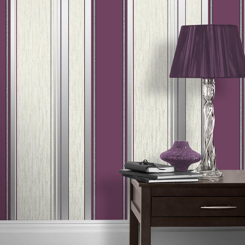 Black Silver Glitter Wallpaper Vymura Synergy Glitter Stripe Wallpaper