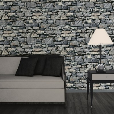 Muriva Dry Stone Wall 3D Effect Wallpaper