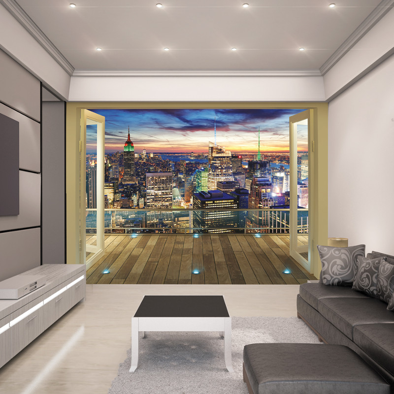 Black And White Feature Wall Wallpaper Walltastic New York City Skyline Wallpaper Mural