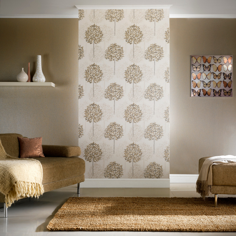 3d Wallpaper For Bedroom Uk Boulevard Trees Wallpaper In Silver And Beige By Arthouse
