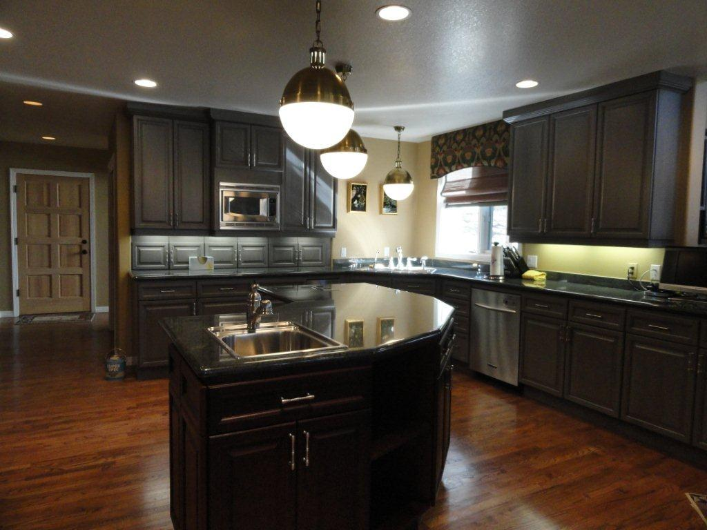 Kitchen Floor Ideas With Dark Cabinets 25 Traditional Dark Kitchen Cabinets Godfather Style