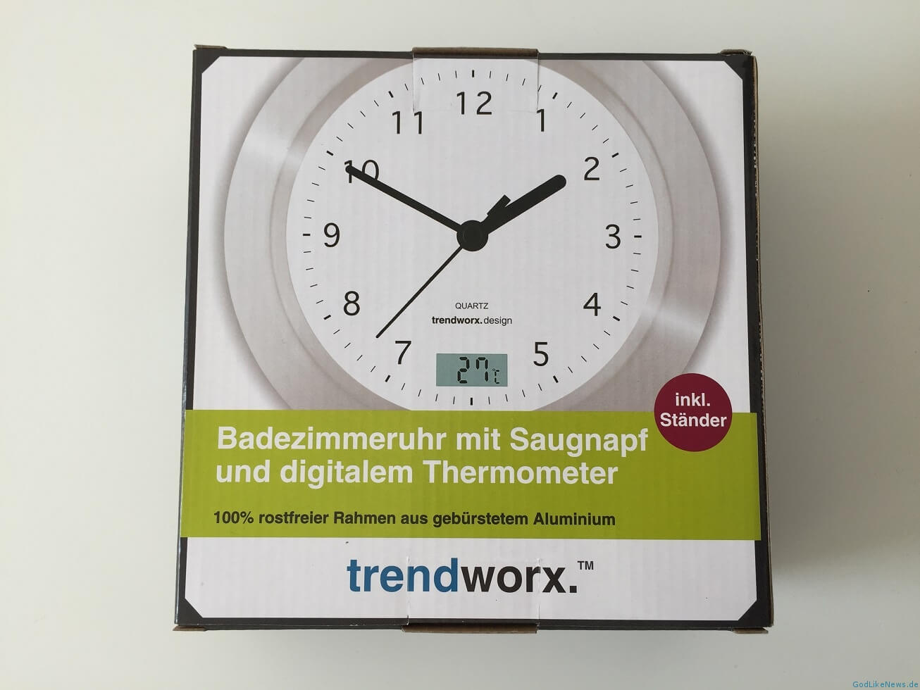 Badezimmeruhr Badezimmeruhr Mit Saugnapf And Thermometer Review