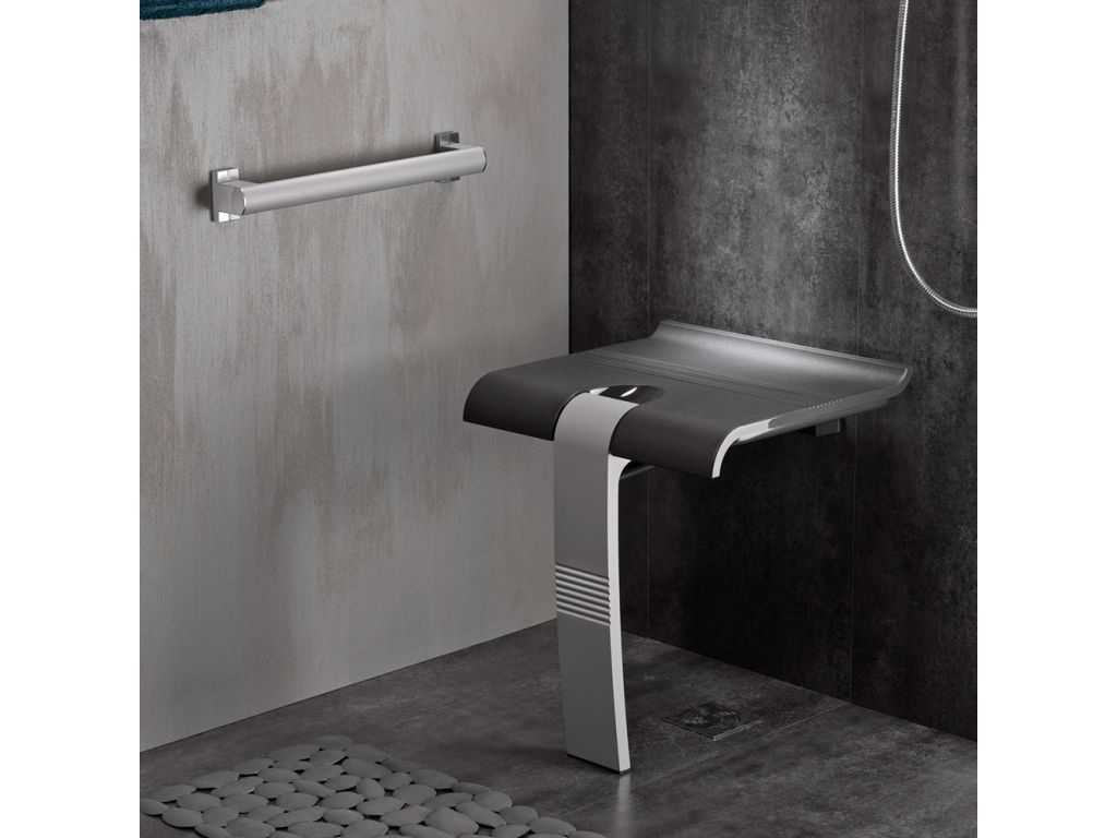 Siege Design Siège De Douche Design15 43 Tablette Gris Anthracite