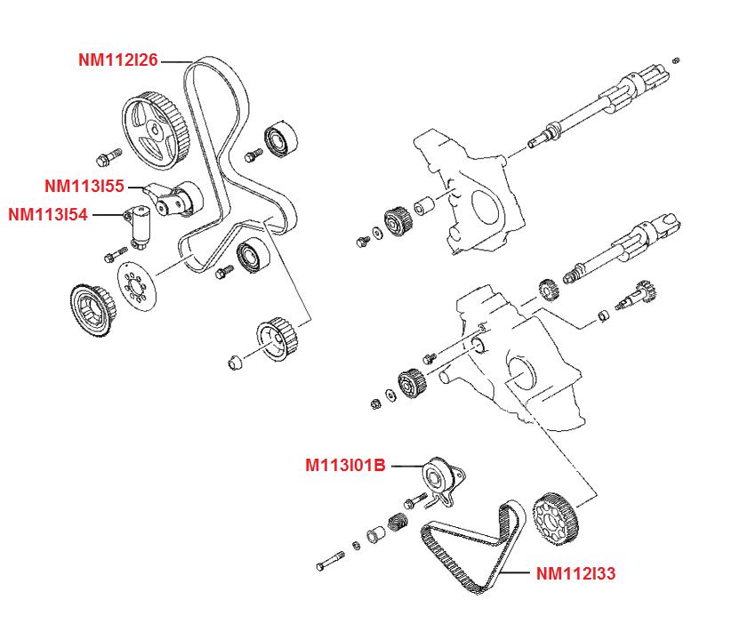 isuzu 5 2 Schema moteur