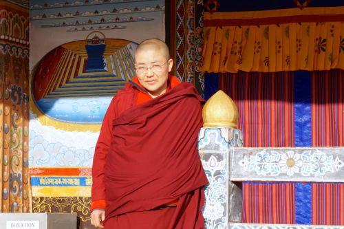 bhutan female monk