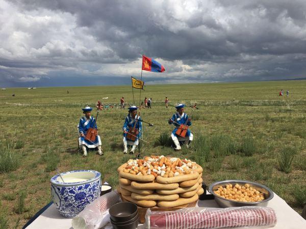 mongolian snacks at Naadam