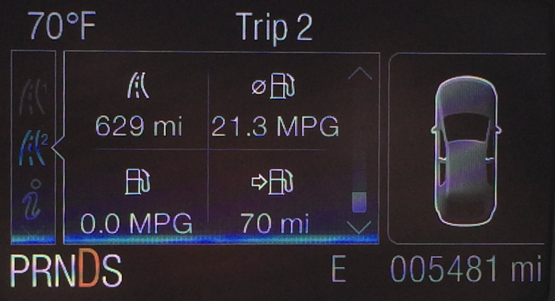 road info from 2014 ford escape