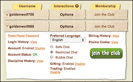 animaljam parental dashboard
