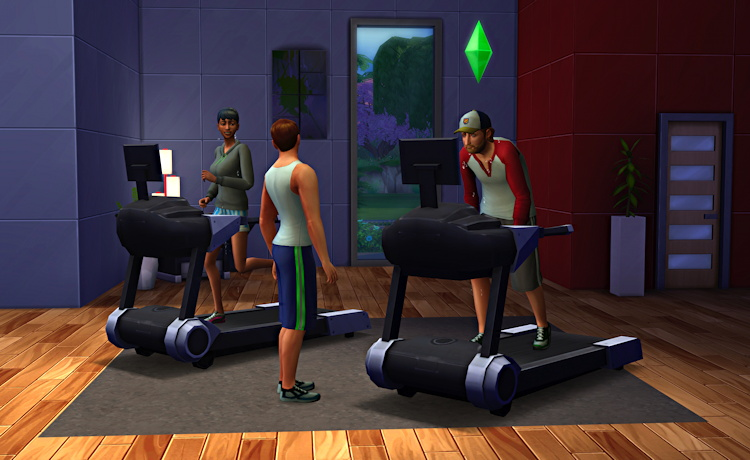 workout room, sims 4