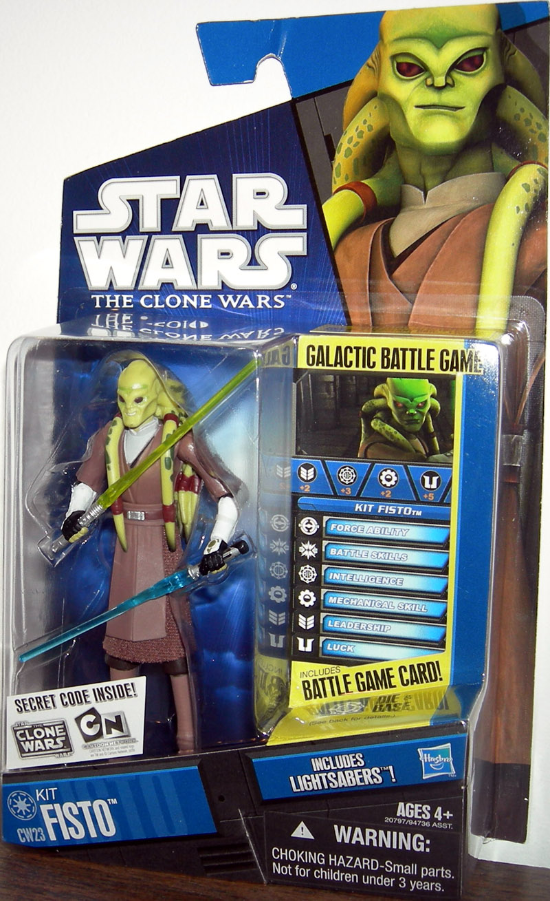 Clone Kit Kit Fisto The Clone Wars Cw23 Action Figure Hasbro