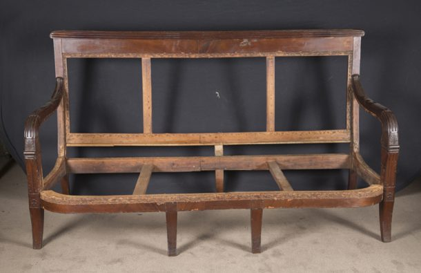 19th Century Empire Mahogany Sofa Frame French Antique Shop