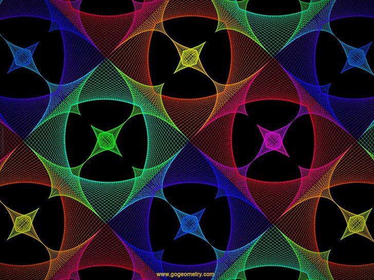 Software String Art 05 Bezier Curves Geometric Pattern