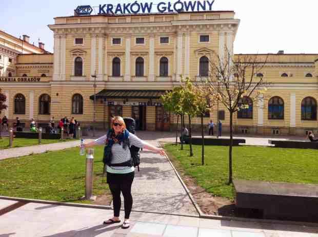 Am Krakower Bahnhof