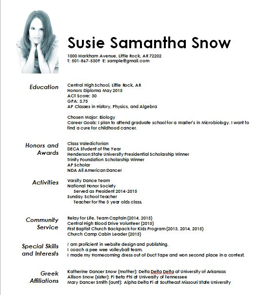 what should a resume picture look like