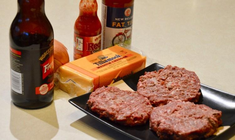 Wild game beer cheese burger ingredients