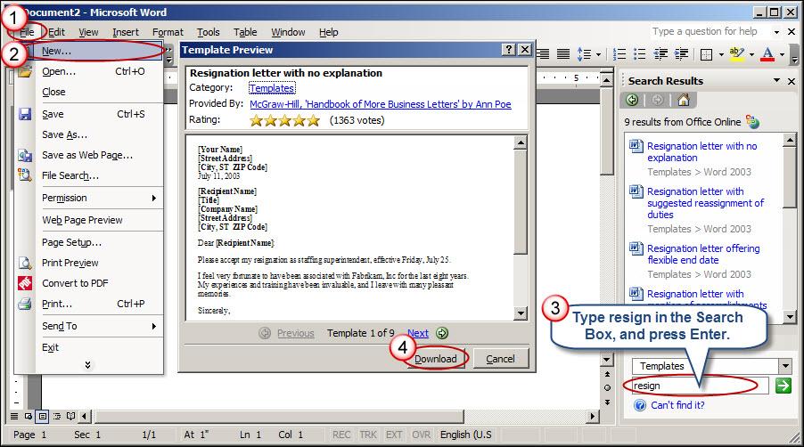Resignation Letter Microsoft Word Gallery - Letter Format Formal Sample