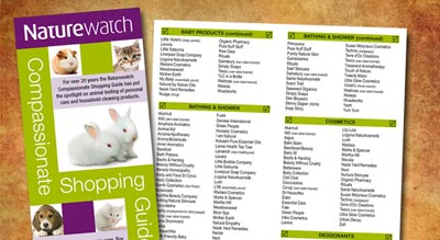 Naturewatch Compassionate Shopping Guide