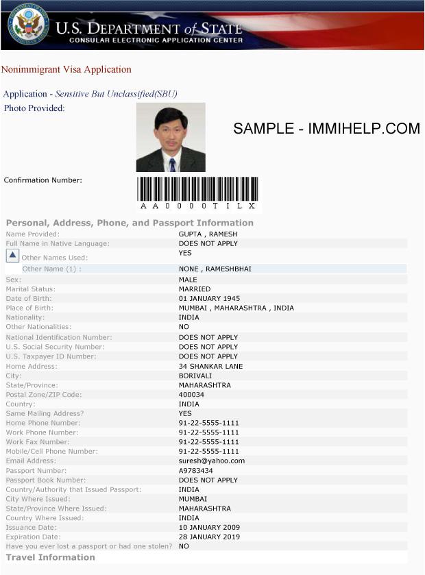 Ds 160 Formulario Sample best Resume