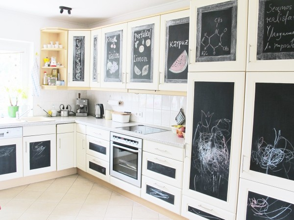 ... Küche, Makeover, Küchenfronten, Günstig, Tafelfolie, Zeichnungen,  Chalkboard,