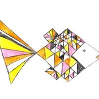 Fisch am Freitag, Geometrisch, Zeichnung