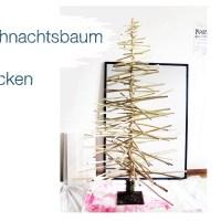 DIY Weihnachtsbaum aus Stöcken, alternativer Christbaum