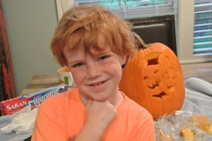 Gavin and his pumpkin