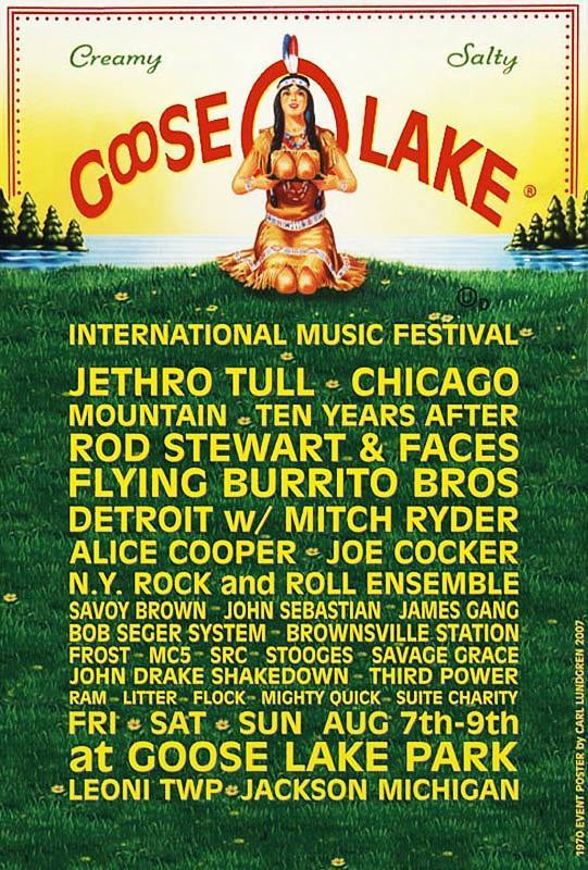 Cool 1960s-70s Midwest Rock Music Festival Posters