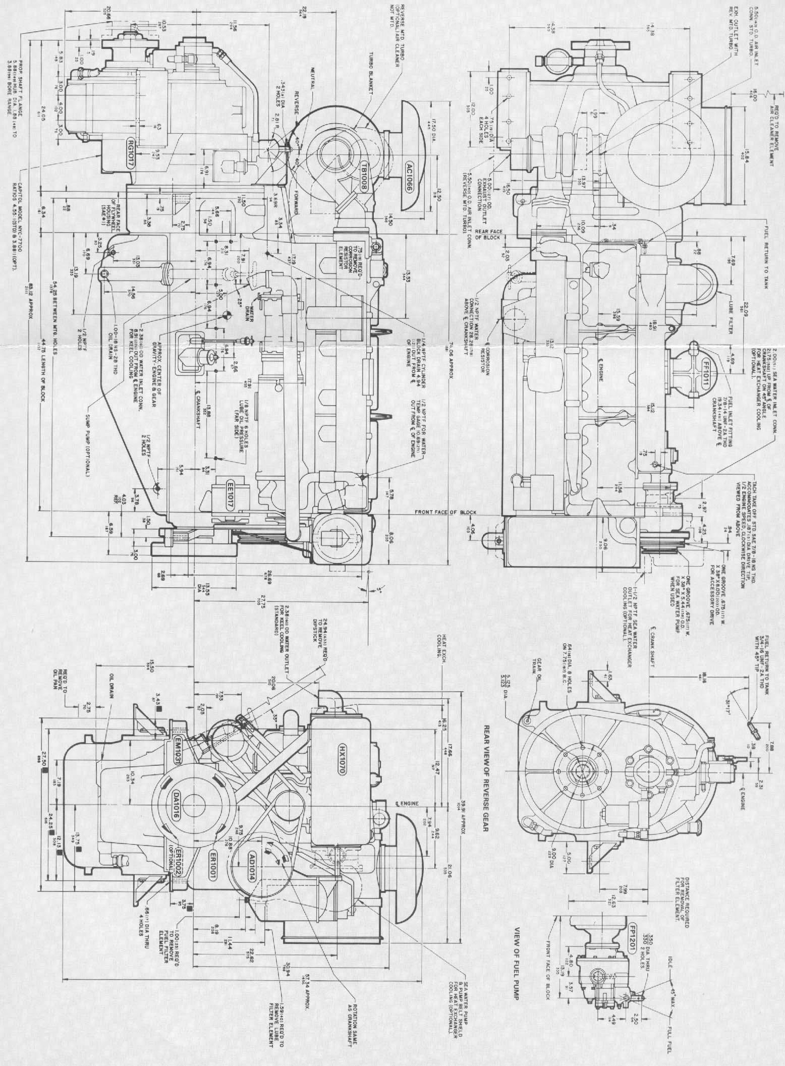 detroit generator wiring diagram