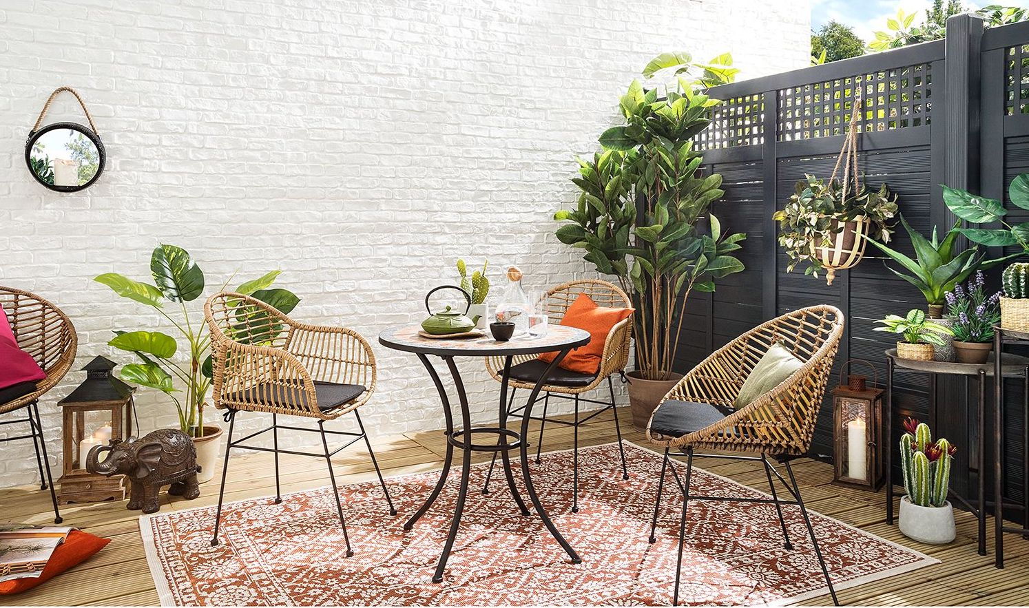 Deco Terrasse Appartement Laterne Boho Style Ecosia