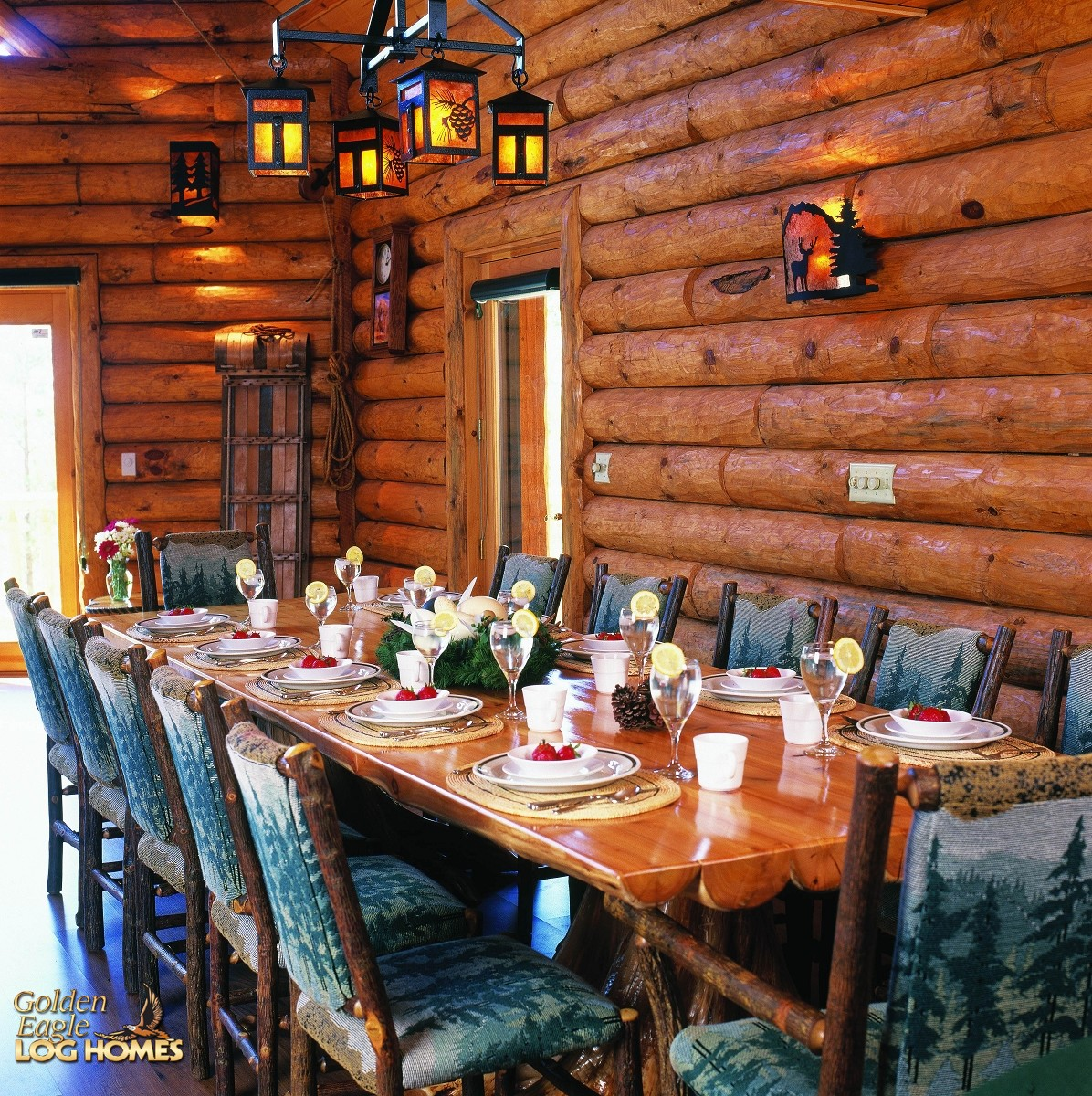 Kitchen Table Lighting Ideas Gallery Golden Eagle Log And Timber Homes: Log Home / Cabin