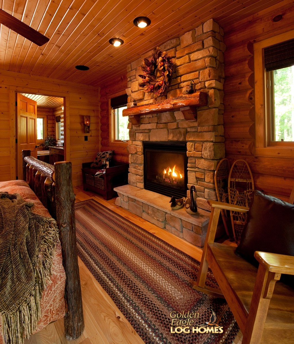 Rustic Bathroom Vanity Golden Eagle Log And Timber Homes: Log Home / Cabin