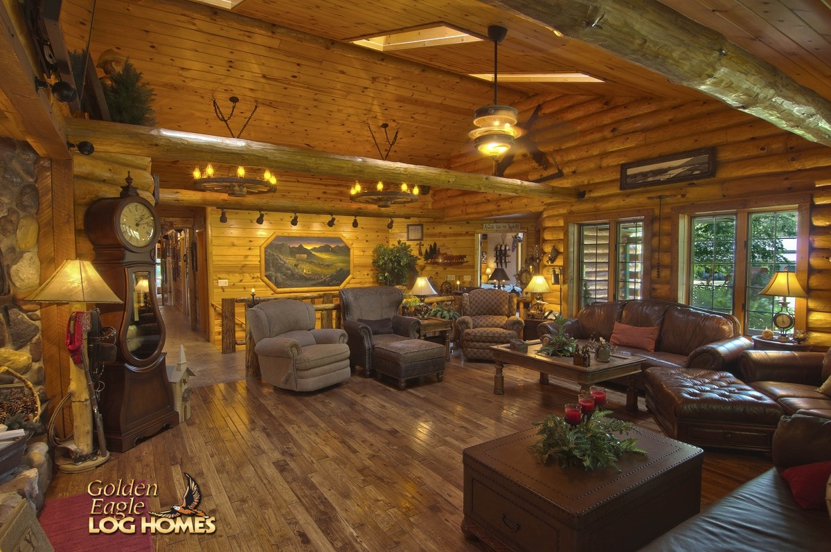 Kitchen Floor Plans Island Golden Eagle Log And Timber Homes: Log Home / Cabin