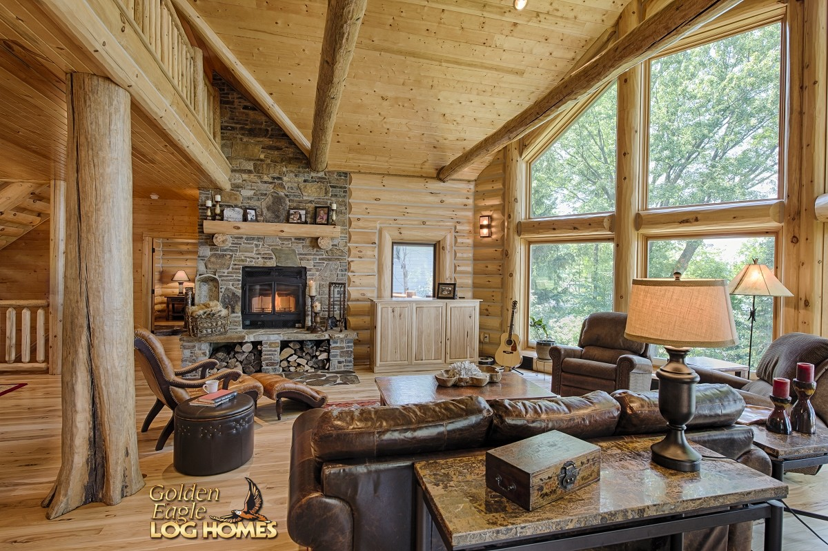 Western Stil Wohnzimmer Golden Eagle Log And Timber Homes Log Home Cabin