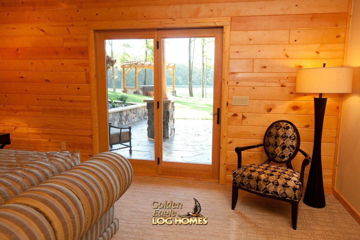 Houzz Vanity Golden Eagle Log And Timber Homes: Log Home / Cabin