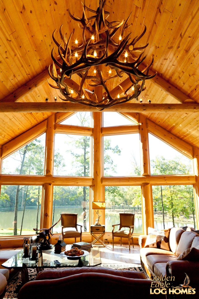 Plans For Building A Kitchen Island Golden Eagle Log And Timber Homes: Log Home / Cabin