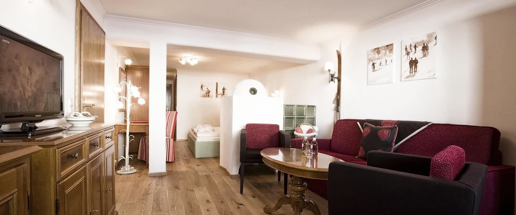 Doppelwaschbecken Glas Family Suite Petersboden Hotel Goldener Berg