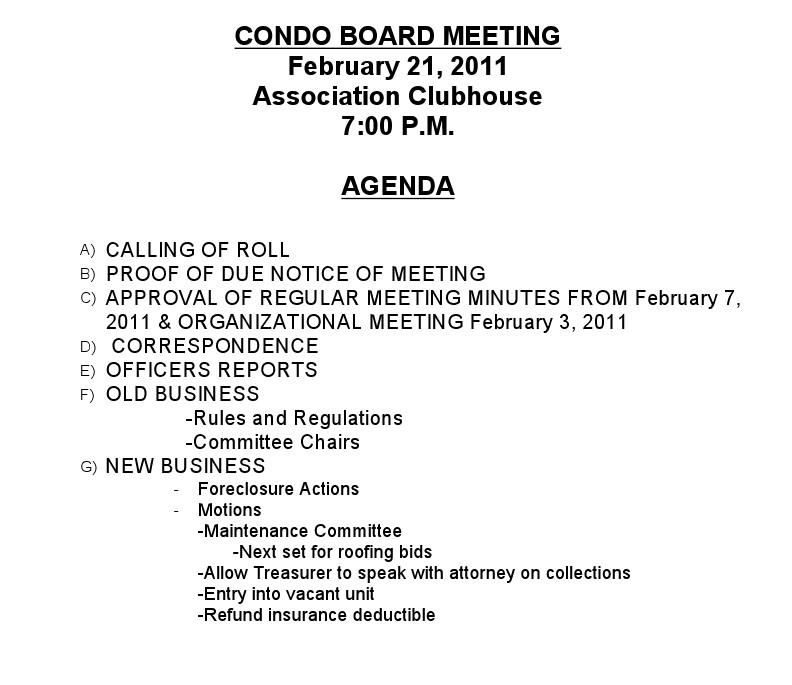 format of board meeting agenda - Opucukkiessling - format for an agenda