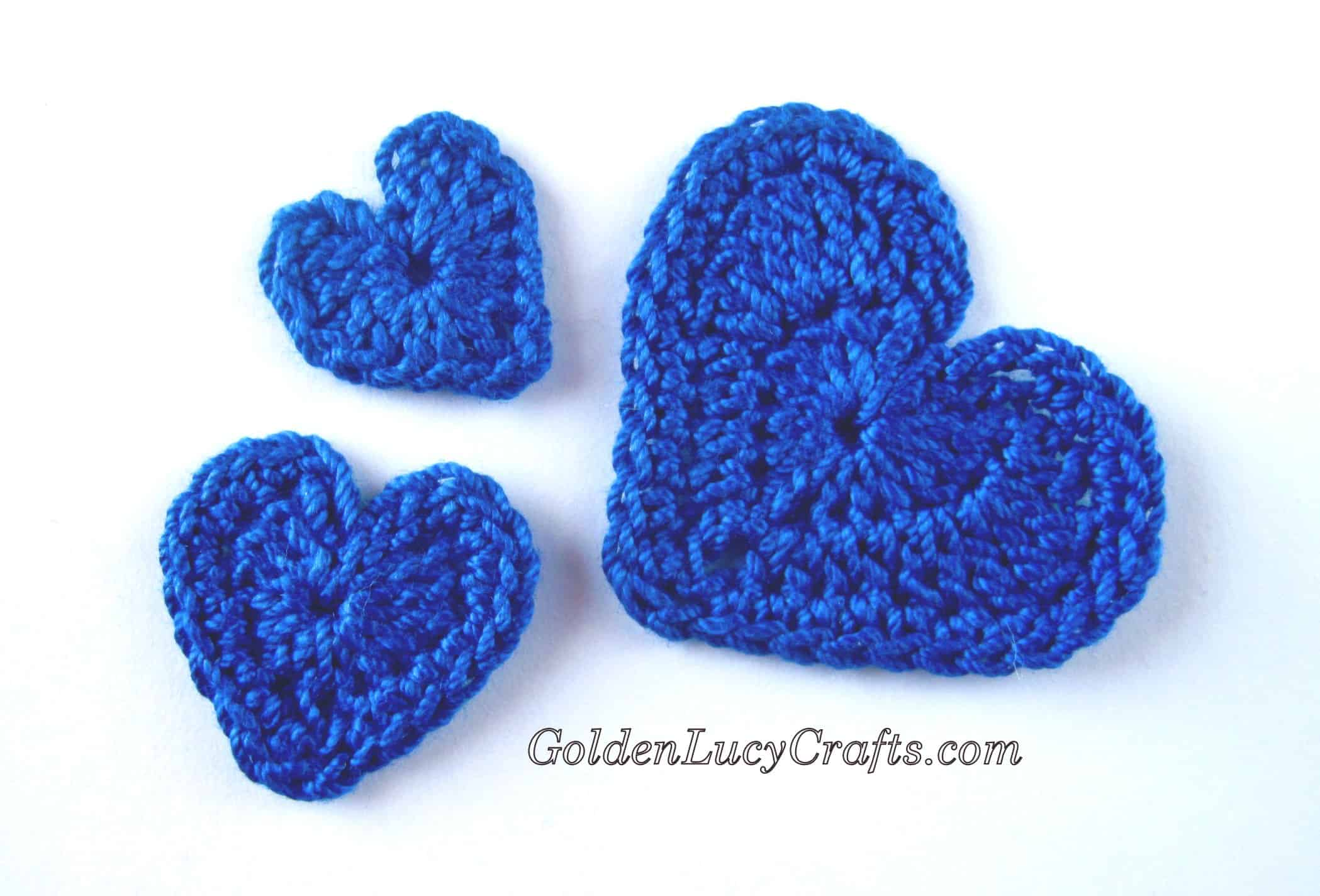 Applique Crochet Hearts Applique Free Crochet Pattern