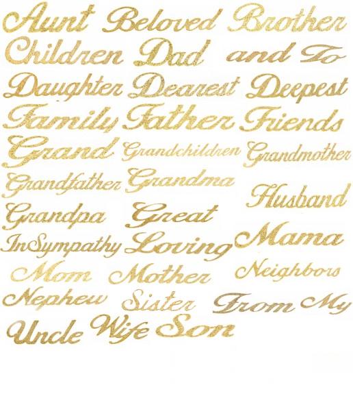 Glitter Gold Uppercase Letters Sheet - Golden Openings