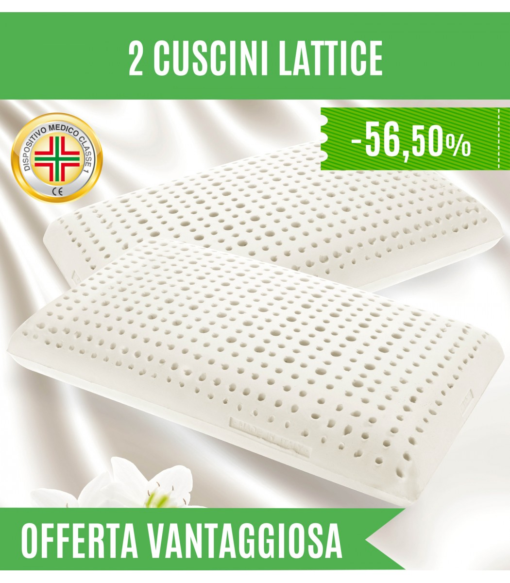 Letto In Lattice Offerta Cuscini Lattice