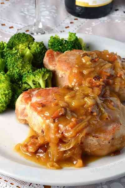 Smothered Apple Cider Pork Chops