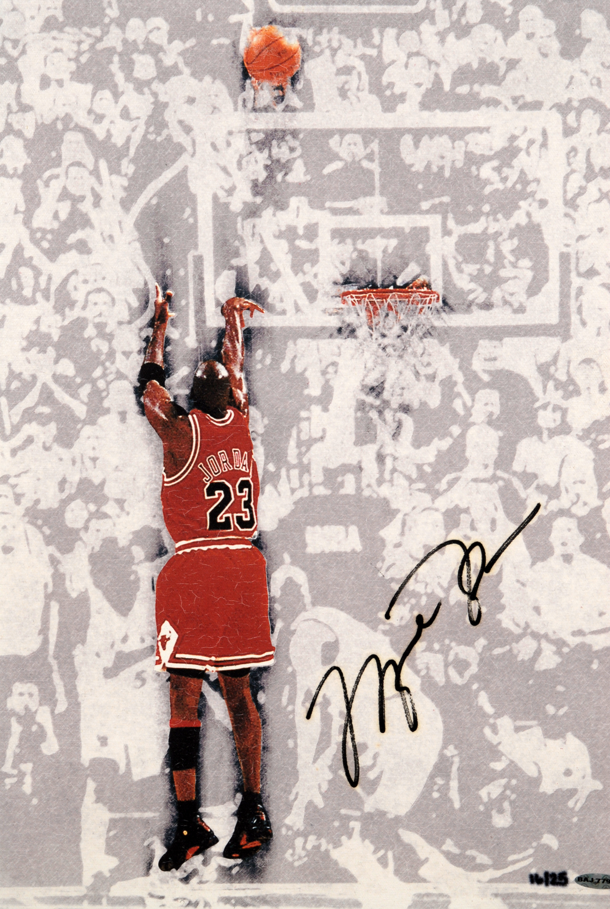 Only Black Wallpaper Lot Detail Michael Jordan Quot Last Shot Quot Signed Canvas