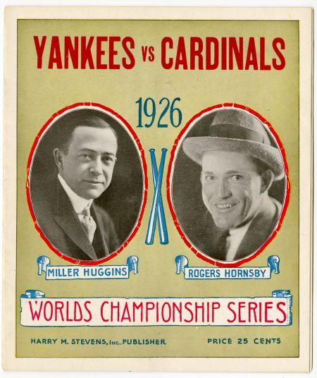 1926 World Series Program