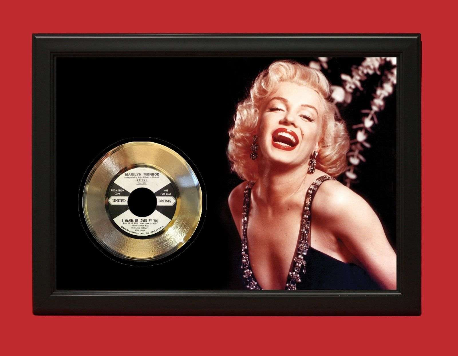 Marilyn Monroe Poster Marilyn Monroe Poster Art Wood Framed Gold 45 Display Free Us Shipping
