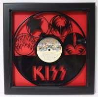 KISS Framed Laser Cut Black Vinyl Record in Shadowbox ...
