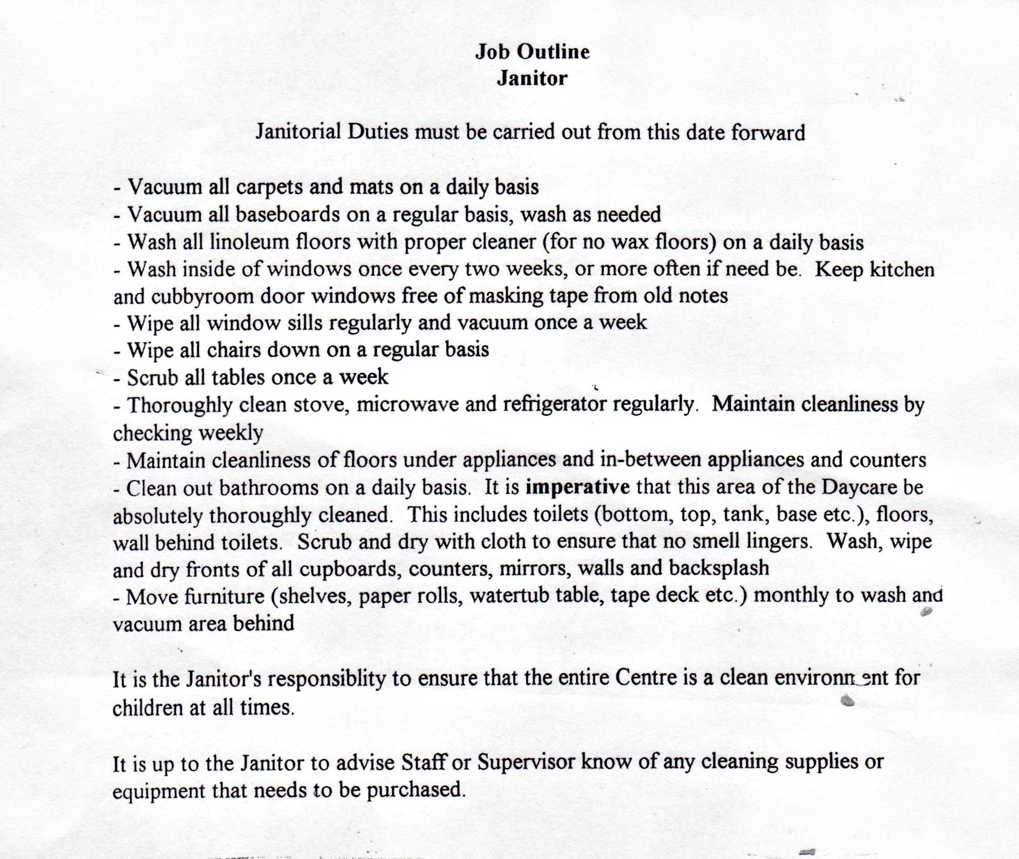 resume  custodial supervisor custodian cover letter sample  coordinator  cover letter  broker cover letter