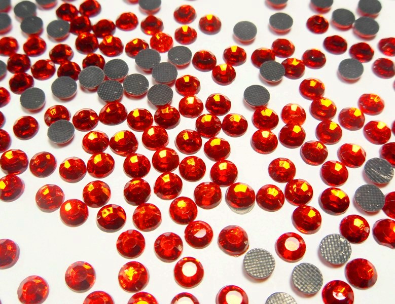 Teddy Fleece Bettwäsche Hotfix Strasssteine Rot Feuerrot 6mm Glas Strass Aaa