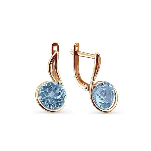 Medium Of Blue Topaz Earrings