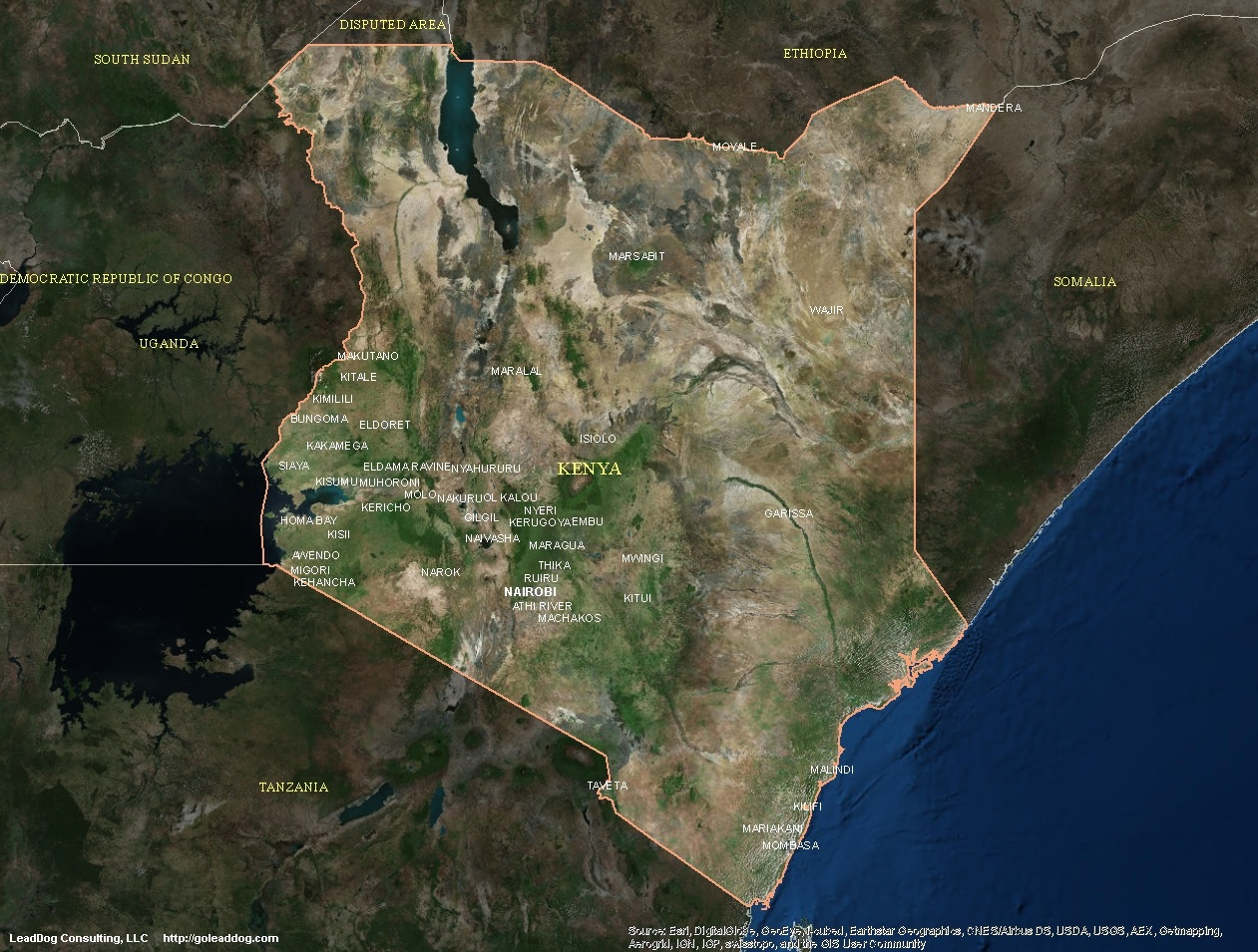 Sid 3d Name Wallpaper Kenya Satellite Maps Leaddog Consulting